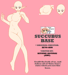 Succubus base edit by Kitsune-Notunai