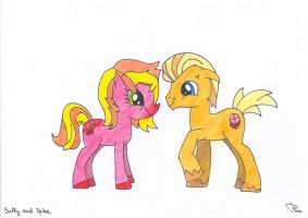 Buffy and Spike ponies by ThisNameIsPwoper