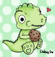 Dino Cookie by dinoblood
