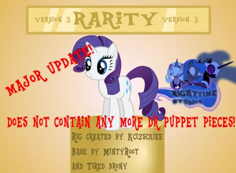 (RE-UPLOAD) Rarity V3 Puppet Rig By Kcizsckiee by JonnySel007