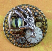 The Clockyard Steampunk Pin by cjgrand