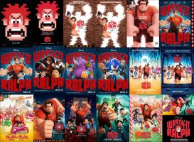 Wreck It Ralph - All Posters Wallpaper by EspioArtwork