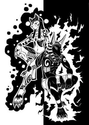 Anubis and Bastet