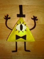 Bill Cipher Plush by VickyViolet