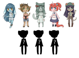Anthro girl adoptables: CLOSED by Amphany