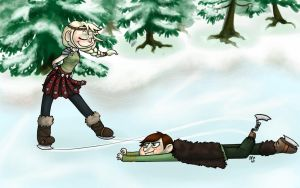 Skating Isn't Easy With One Foot by WhateverCat