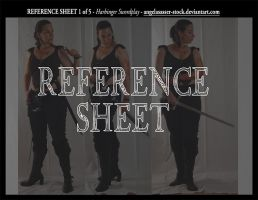 REFERENCE SHEET 1 of 5: Harbinger Swordplay by AngelaSasser-stock