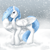 Mystic Snow Goddess by ClemiKinkajou