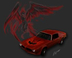 Red and Black FireBird:TransAm by tinyblue