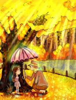 Under The Ginkou Tree by MiamoryHJ