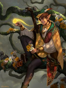 Alvin , The Fanciful Bard Wanderer by IndahAlditha