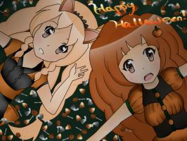[Request for Sophie Chu] Meruru + Poemi Halloween! by aurorastar21