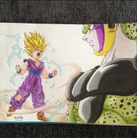 Gohan Vs Cell by pandapopx