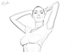 Kate Upton Sketch by Fried-Tomato