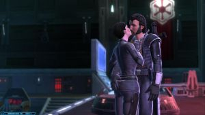 SWTOR Agent Theo'loren and Watcher Two by chicksaw2002