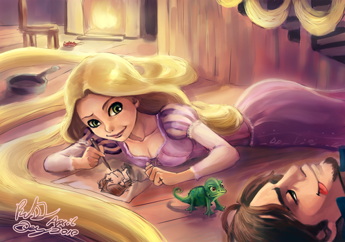 Tangled - Life Studies _ final by FalyneVarger
