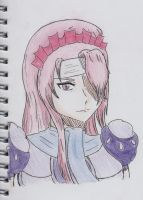 pink haired woman with scarf - rosa by nickperriny7mai