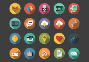 Web Flat Icons bundle by Alexgorilla