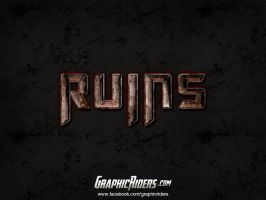 Action grunge text style -Ruins by PeterSaoSzabo