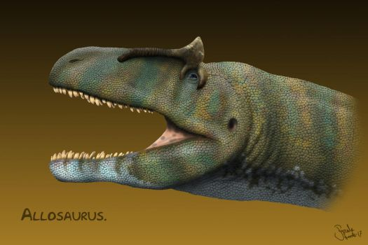 Allosaurus. by Frank-Lode