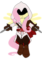 Assassin Fluttershy by animalpainter