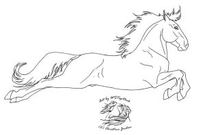 Capriole Lineart for dA use by WSTopDeck