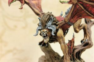 Manticore Details Face by MiniatureMistress