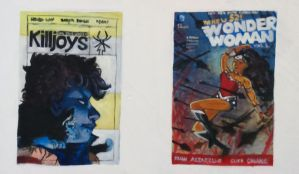 Killjoys and Wonder Woman comic book covers by JanineEngelbrecht
