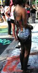 Barefoot Street Chalk Artist With Dirty Legs/Feet by BarefootGuy