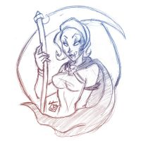 Quick Sketch Trade - Madame Mortis by hooksnfangs