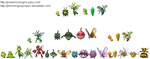 Insect Pokemon Ancestry by PkmnOriginsProject