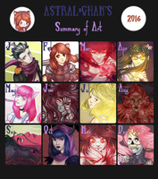 Art Summary [2016] by Astral-Chan