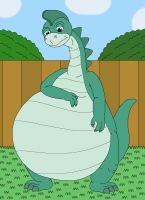 Denver the last Dinosaur is feel so chubby by MCsaurus