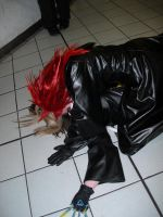Axel and Larxene making out by KellyJane