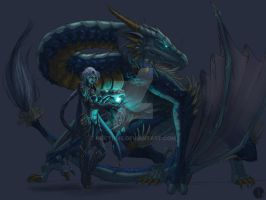 Sky Dragon Shyvana - Dragonic Form - Color WIP1 by Noctume