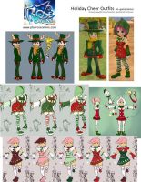 ROSE Online - Holiday Cheer Costume Concepts by HeroGear
