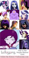 Bellossoms Ode to the Purple Haired Girls by SimplyErika
