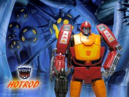 Hot Rod - Hasbro / Takara Transformers by icemocha75