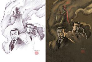 Charlie Chan and Mr. Moto by Kromdor