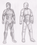 Concept: Body glove and combat hardsuit by Spacer176