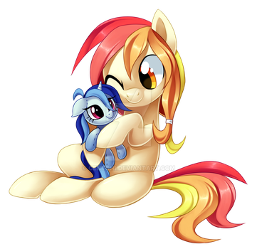 Plushie Snuggles by Centchi