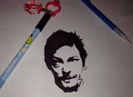 Norman Reedus by SaieraElfy
