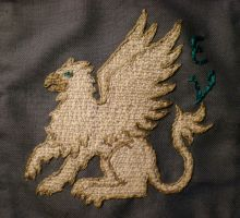 Griffin embroidery by sleepyhamsteri
