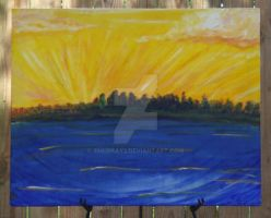 Sale on SUNSET GLORY Original acrylic painting by SMurray2