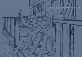 WIP - Sam and Spike - stargazing by oomizuao