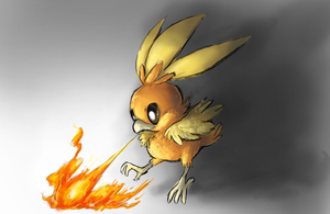 torchic speed paint by Peegeray