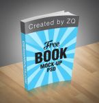 Free Book Mock-up PSD File by Designbolts