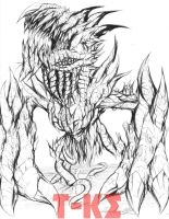 Abominable Z-Rex by The-KaijuEnthusiast