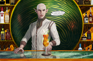 Solas The Bartender - One Faded Smuttine by SketchGlee