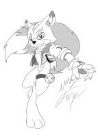 Fox McCloud Anthro Manga Style by GunZcon